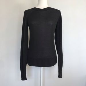 Everlane Crew Neck Lightweight Sweater Black Sz Sm